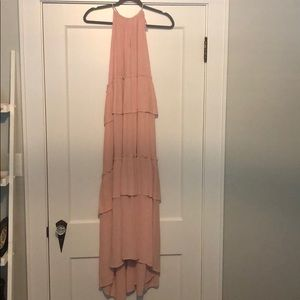Pink tiered maxi
